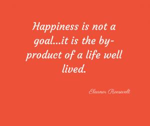 Happiness Quote - Eleanor Roosevelt