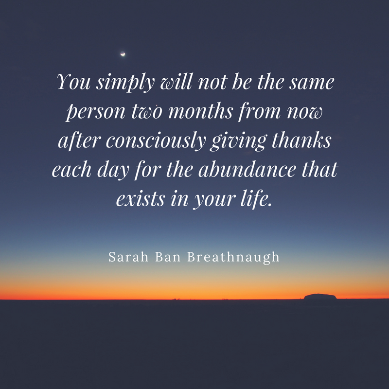 abundance and gratitude sara ban breathnaugh simple abundance