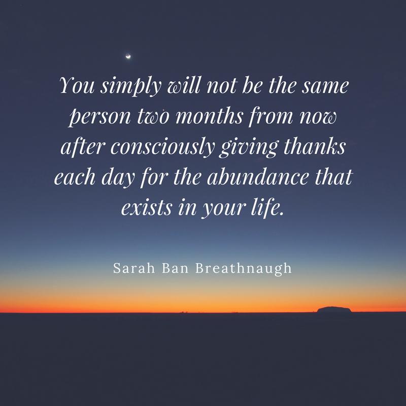 abundance and gratitude sara ban breathnaugh simple abundance
