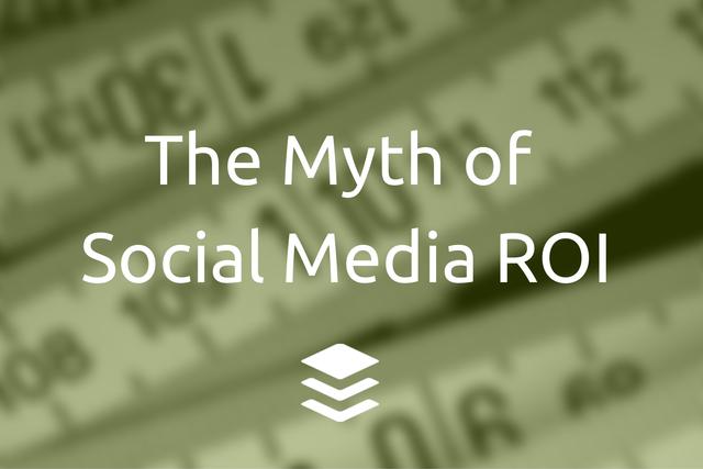 social media ROI myth